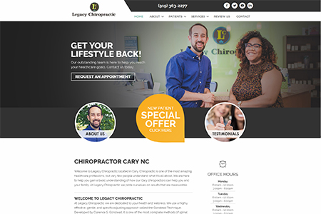 Legacy Chiropractic Cary NC